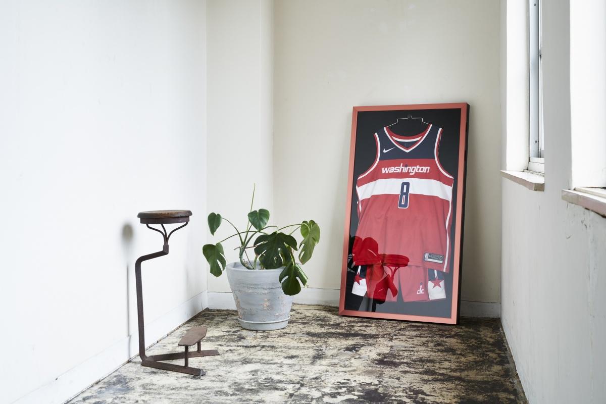 バスケットボール用ユニフォームケース レッド 黒別珍 使用例