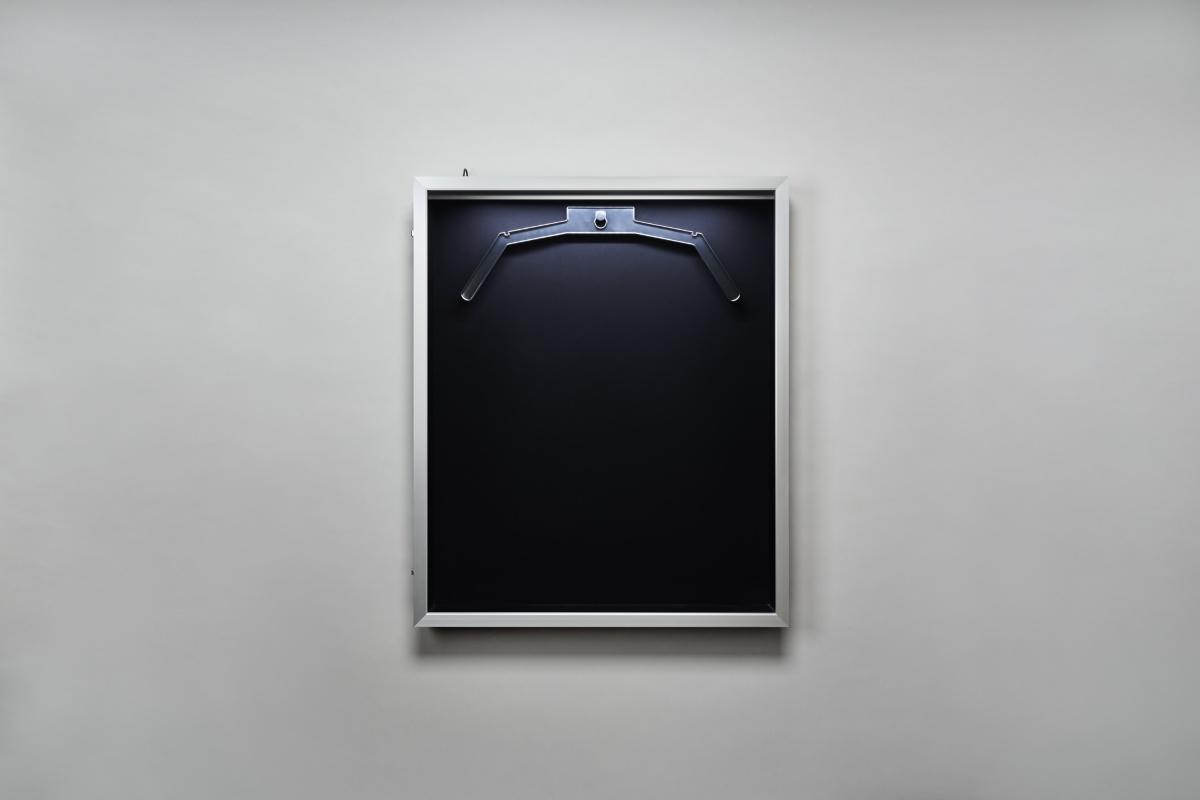 LEDユニフォームケース シルバーx黒別珍 正面